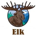 Cartoon moose or elk — Stock Vector #52422425