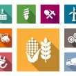 Industrial flat icons set — Stock Vector #52422465
