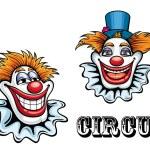 Circus cartoon clowns characters — Stock Vector #52422487