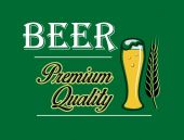 Beer and brewery emblem — Vector de stock