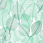 Foliage green leaves seamless pattern — Vector de stock