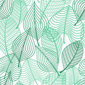 Foliage green leaves seamless pattern — Stockvektor