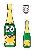 Carton champagne or sparkling wine bottle — Stock Vector