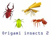Origami insects set  — Stock Vector