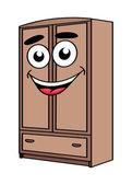 Cartoon wardrobe furniture character  — Stock Vector