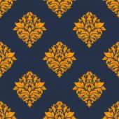 Retro orange seamless pattern — Stock Vector