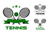Tennis sport badges and emblems — Vetorial Stock