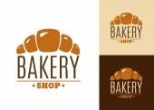Croissant bakery emblem or logo — Stockvektor