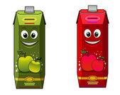 Cartoon apple juice packages — Stock Vector