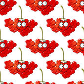 Cartoon red berry seamless pattern — Stock Vector
