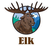 Cartoon moose or elk — Stock Vector