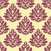 Retro maroon, crimson or dark red seamless pattern — Stock Vector