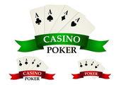 Casino gambling symbols and signs — Stock Vector