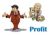Cartoon businessman and financial expert characters — Stock Vector