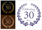 Anniversary celebration emblem — Vector de stock