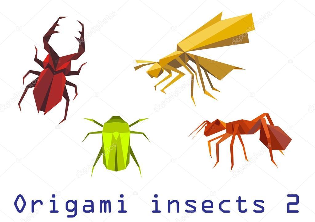 Оригами насекомые набор