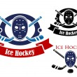 Ice hockey symbols set — Stock Vector #52841315