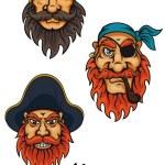 Cartoon fierce pirates set — Stock Vector #52841455