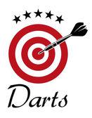 Darts sporting emblem — Stock Vector