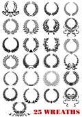 Laurel wreaths heraldic set — Stock Vector