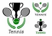 Tennis sporting emblems set — Stock Vector