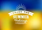 Enjoy Summer Holidays poster  — Stock Vector