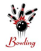 Bowling emblem or logo — Stock Vector