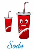 Cartoon cola or soda character — Stock Vector