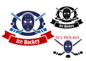 Ice hockey symbols set — Stock Vector