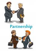 Businessman handshake and partnership — Stock vektor