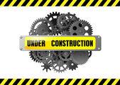 Under konstruktion webbsida varning — Stockvektor