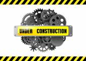 Under construction web page warning  — Stock Vector