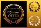 Special offer label or emblem  — Stock Vector