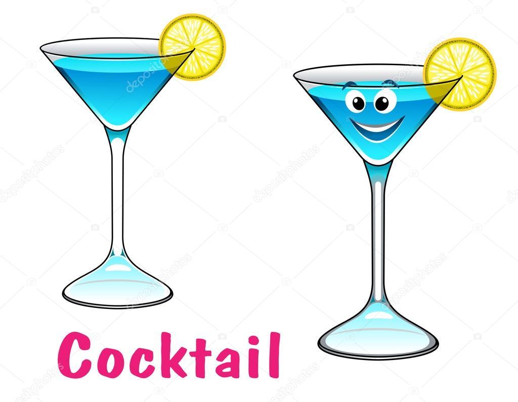 Cocktail personnage de dessin anim image vectorielle - Dessin cocktail ...
