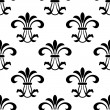 Seamless fleur-de-lis royal black pattern — Stock Vector #53333599