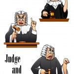 Cartoon judge characters — Stock Vector #53333607