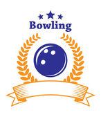 Bowling emblem — Stock Vector