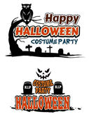Halloween party themes — Stock Vector