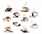 Coffee cups set — Stock Vector
