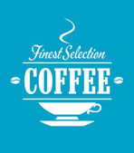 Finest selection coffee banner — Stock Vector