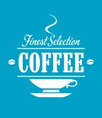 Finest selection coffee banner — Vettoriale Stock