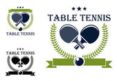 Table tennis emblems and symbols — Stock Vector