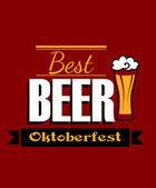 German best beer banner  — Stock Vector