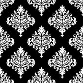 Retro white damask seamless pattern — Stock Vector