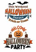 Halloween costume party invitation — Wektor stockowy
