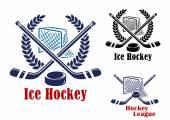 Ice hockey symbol — Stock Vector