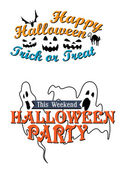 Happy Halloween party advertisement  — Stockvector