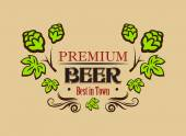 Premium beer banner or emblem — Stock Vector