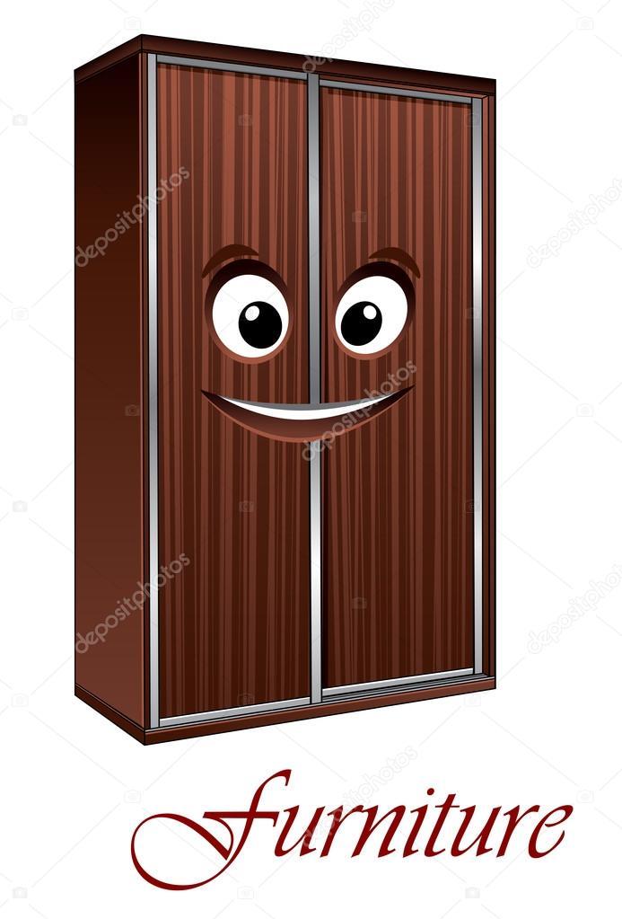 Personaje de dibujos animados armario vector de stock for Mueble animado