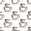 Steaming coffee cups seamless pattern — Stock Vector #53785013